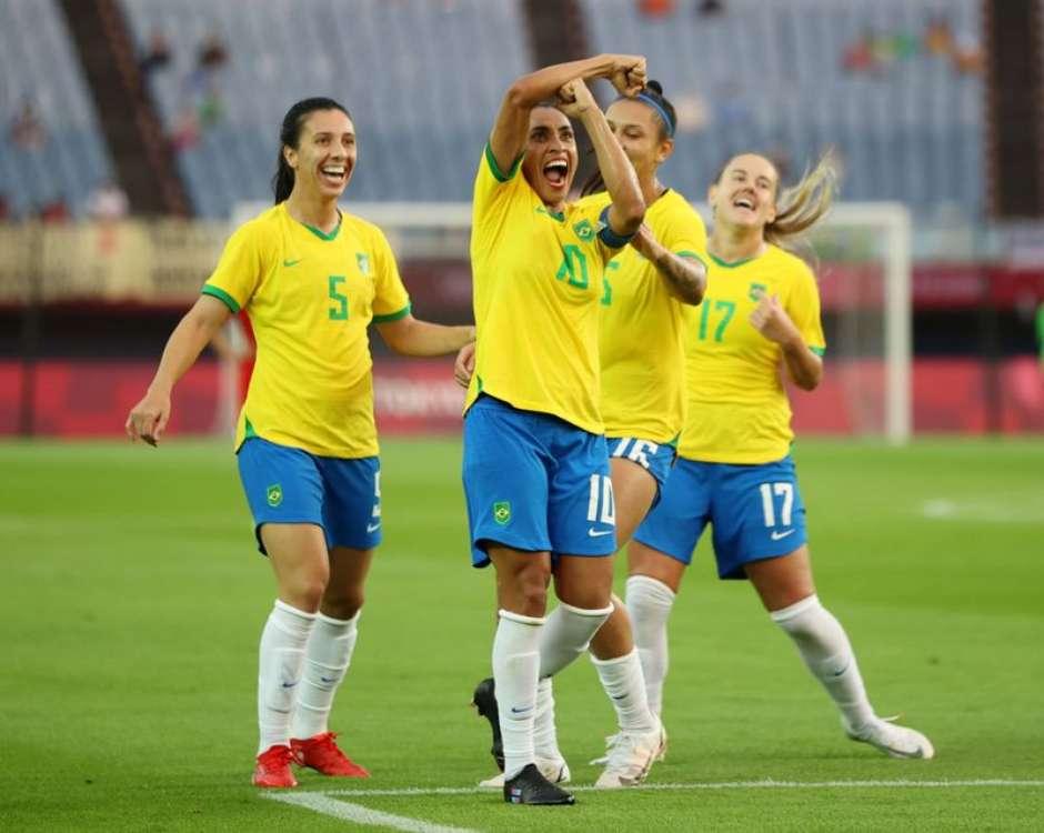 Brasil estreia nas Olimpíadas de Tóquio com goleada sobre a China no futebol feminino