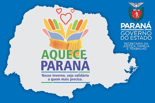 Segunda edição da Campanha Aquece Paraná acontecerá nessa sexta-feira (28/05)